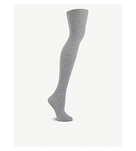 FALKE 性感的羊绒 50 旦棉混纺紧身裤 (3400 + 浅 + 灰色