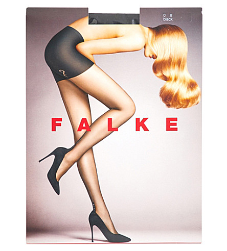 FALKE Opulence sheer glitter-seam tights (3009+black