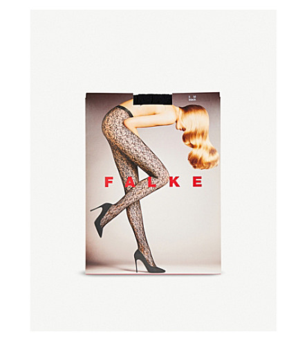 FALKE Ceramic Lace tights (3009+black