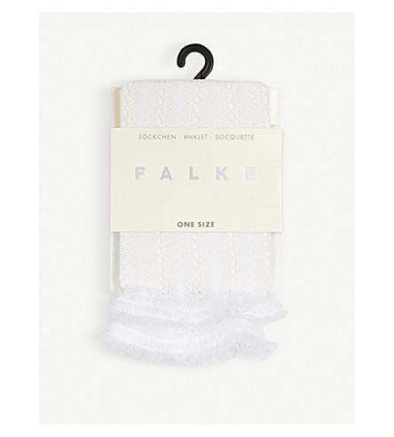 FALKE Biblica ruffled lace socks (2209+white