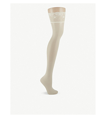 FALKE Seidenglatt 15 denier stockings (2059+off+white