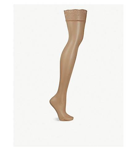 FALKE Siedenglatt 15 denier stockings (4699+golden+new