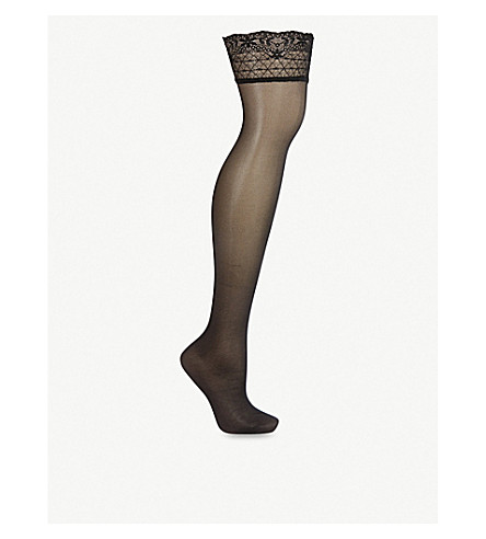 FALKE Seidenglatt 15 denier stockings (Black
