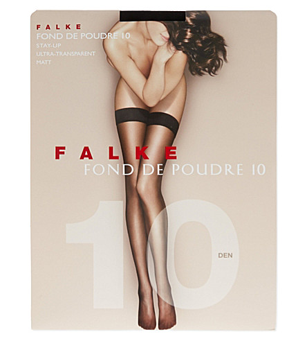 FALKE Fond de Poudre 10 denier stockings (3009+black