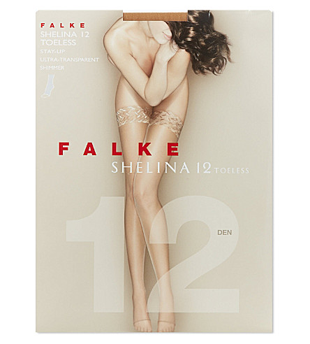 FALKE Shelina 12 toeless stay-ups (Powder