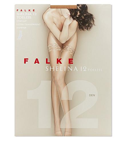 FALKE Shelina 12 toeless stay-ups (Powder