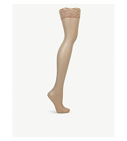FALKE Shelina toeless hold-ups (4169+powder