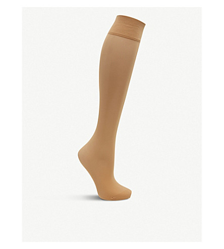 FALKE Matt Deluxe 20 denier knee-highs (4699+golden+new