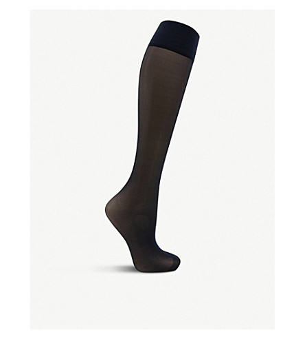 FALKE Matt Deluxe 20 denier knee-high socks (6179+marine
