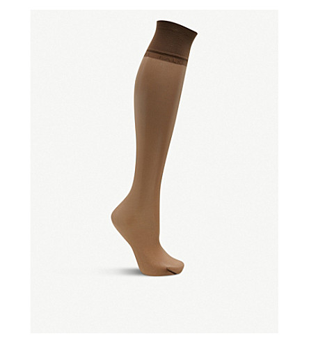 FALKE Shelina knee-highs (5309+coffee