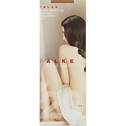 FALKE Pure matt 20 knee high tights (Powder