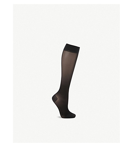 FALKE Energize 30 denier knee-high pantyhose (3009+black