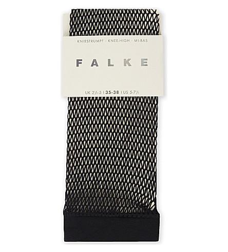 FALKE Fishnet knee-high socks (3009+black