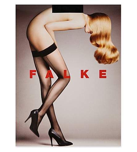 FALKE 8D back-seam hold-ups (3009+black