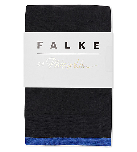 FALKE 3.1 Phillip Lim striped anklet socks (3009+black