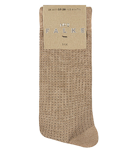 FALKE No 2 silk sock (4170+brownie+me