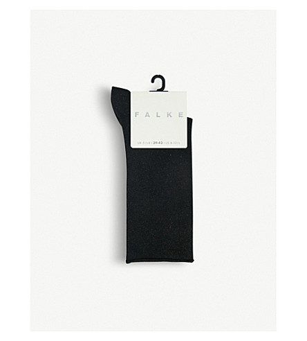 FALKE Shiny metallic socks (3000+black