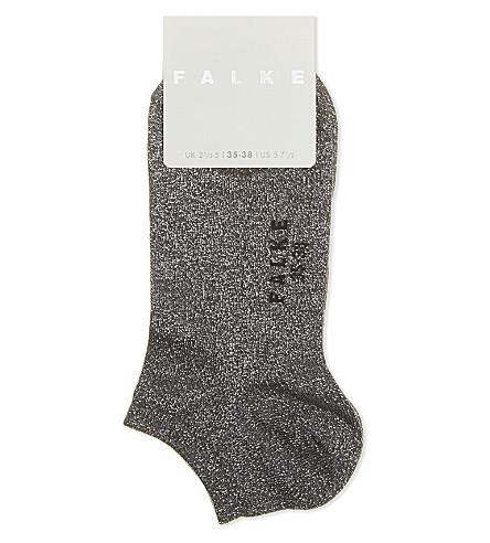 FALKE Metallic stretch-cotton ankle socks (3240+hematite
