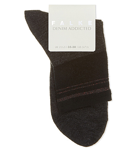 FALKE Denim Addicted cotton-blend socks (3080+anthra.mel