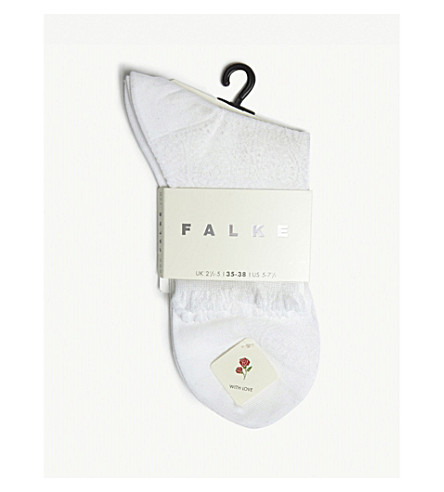 FALKE Cupid cotton short socks (2000+white