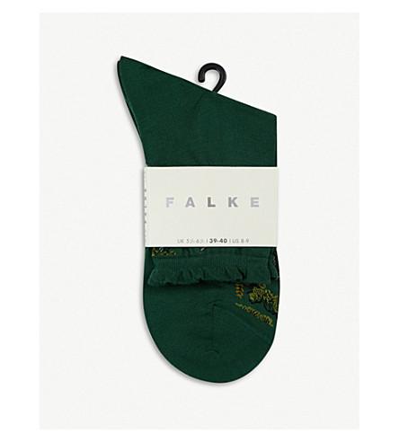 FALKE Crane cotton-blend flight socks (7502+eucalyptus