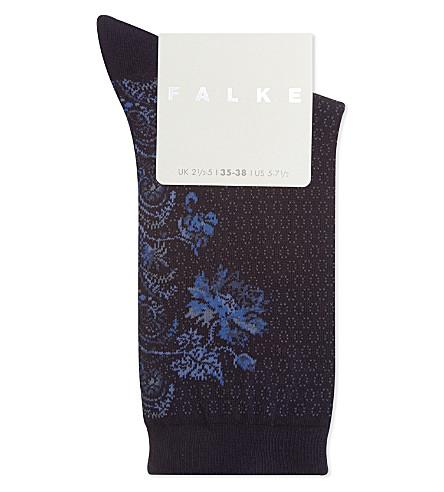 FALKE Rococo cotton-blend socks (6733+sapphire