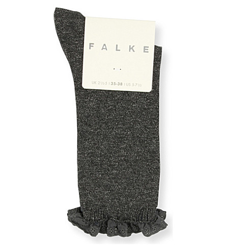 FALKE Matelasse stretch-cotton socks (3111+anthracite