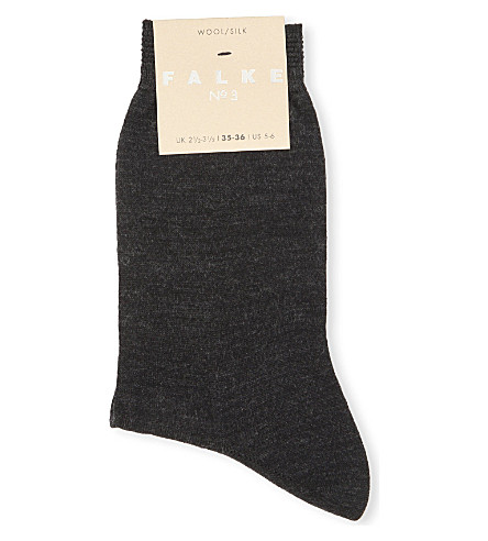 FALKE No 3 wool-silk socks (3089+anthra+mel