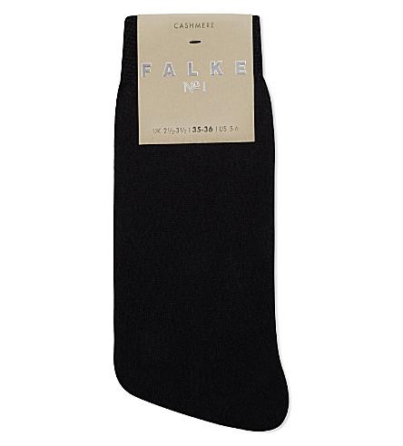 FALKE No1 cashmere anklet socks (3009 black