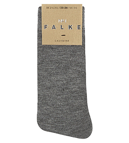 FALKE No 1 cashmere ankle socks (3390+light+grey+mel