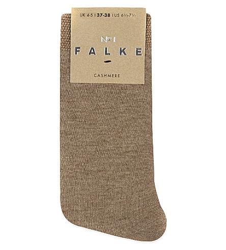 FALKE No 1 cashmere sock (5410+nutmeg+mel