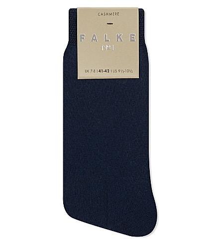 FALKE No1 cashmere anklet socks (6129+marine