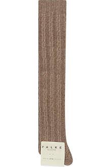 FALKE Striggings cable over-the-knee socks