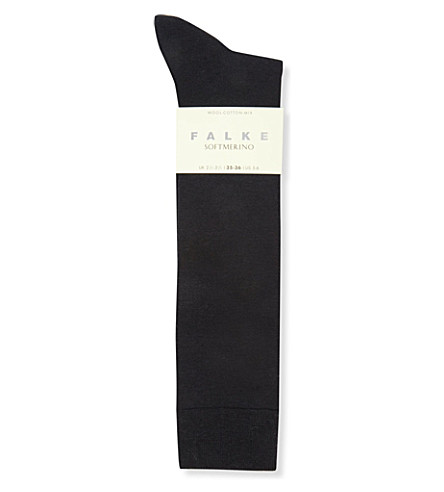 FALKE Falke Softmerino knee-high socks (6379+dark+navy