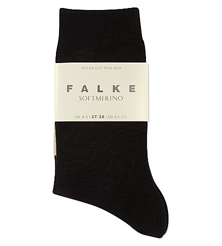 FALKE Soft merino socks (3009+black