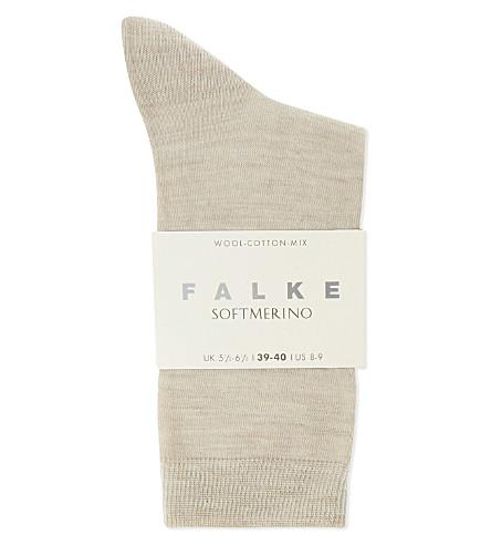 FALKE Softmerino socks (4549+linen+mel