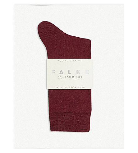 FALKE Softmerino socks (8010 wine