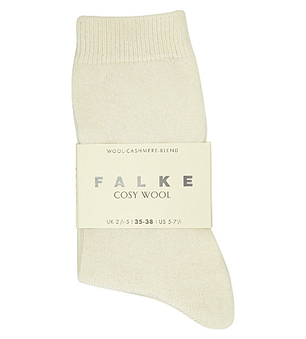 FALKE Cosy Wool cashmere socks (2049+off+white