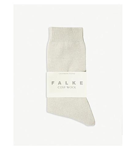 FALKE 舒适羊毛羊绒袜子 (4102 + 浅 + 米色