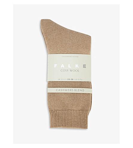 FALKE Cosy wool-cashmere socks (4220+camel