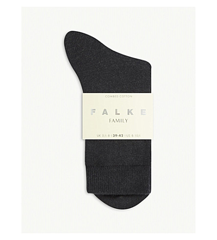 FALKE Family ankle socks (3089+anthra+mel