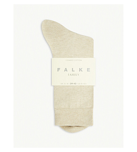 FALKE Family ankle socks (4659+sand+mel