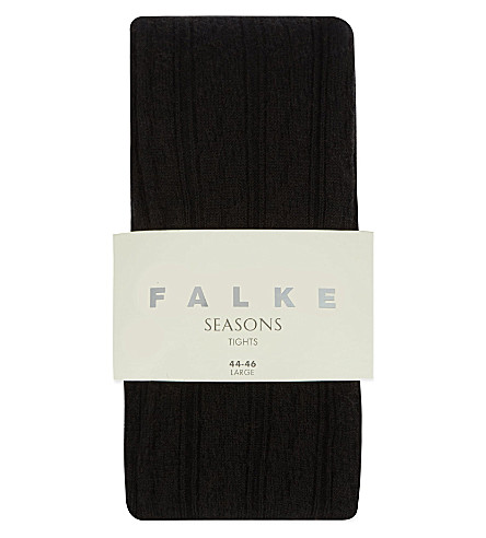 FALKE Striggings cable knit tights (3009 black