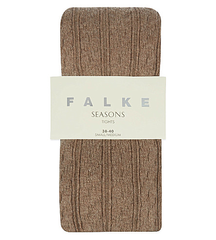 FALKE Striggings cable knit tight (5410 nutmeg mel