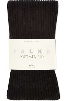 FALKE Soft merino ribbed tights