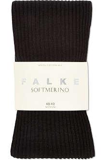 FALKE Soft merino ribbed tights