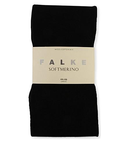FALKE Soft Merino wool-blend tights (Dark brown