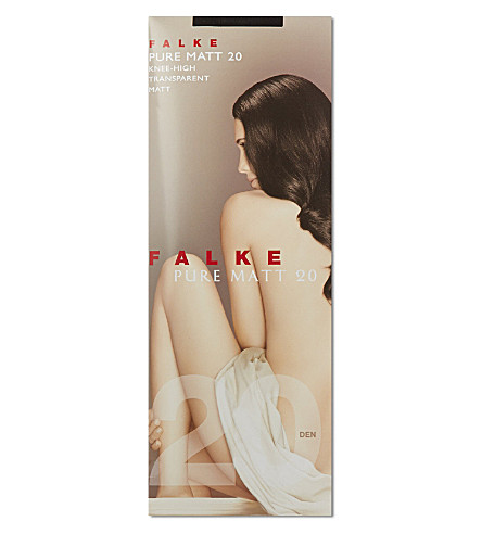 FALKE Pure Matt 20 denier knee-high pop socks (Black: 300