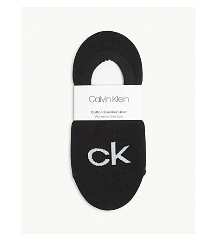 CALVIN KLEIN Kourtney retro logo shoe liners (00+black