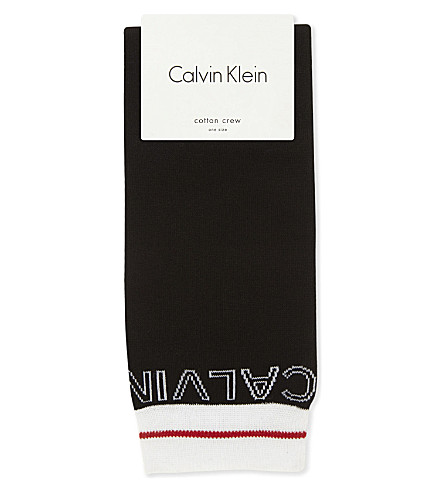 CALVIN KLEIN Icon logo work socks (00 black